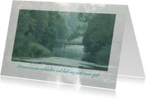 Condoleancekaarten - Condoleance brug alleen tijd
