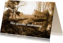 Condoleancekaarten - Condoleance foto pad langs beek