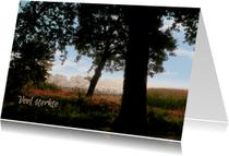 Condoleancekaarten - Condoleancekaart Bosrand