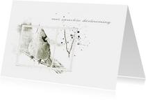 Condoleancekaarten - Condoleancekaart Condoleance Vogel