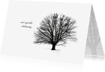 Condoleancekaarten - Condoleancekaart Deelneming Boom