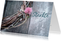 Condoleancekaarten - Condoleancekaart, krans met klavertje