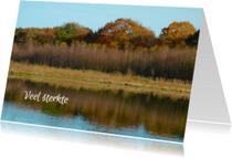 Condoleancekaarten - Condoleancekaart Meer met bomen