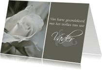 Condoleancekaarten - Condoleancekaart overlijden vader