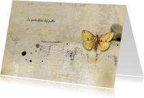 Condoleancekaarten - Condoleancekaart yellow butterfly
