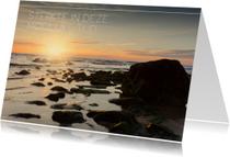 Condoleancekaarten - Condolencekaart met foto van zee