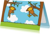 Dierenkaarten - Dierenkaart Aapjes