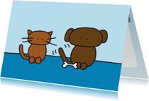 Dierenkaart Kat en Hond