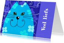 Dierenkaarten - Dierenkaart kat liefs