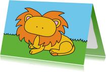 Dierenkaart Lieve Leeuw