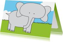 Dierenkaarten - Dierenkaart Lieve Olifant