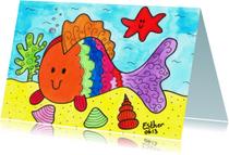 Dierenkaarten - Droomvallei Vis en zeester in de zee