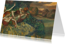 Kunstkaarten - Edgar Degas. Vier danseressen