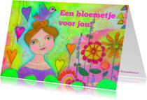 Vriendschap kaarten - Een bloemetje voor jou meisje