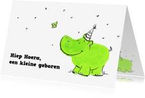 Geboortekaartjes - Een kleine geboren groen