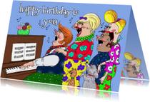 Verjaardagskaarten - Een lied  voor de jarige!