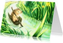 Dierenkaarten - Egel op reis