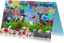Verjaardagskaarten - Ezel hert en andere vrolijke beesten