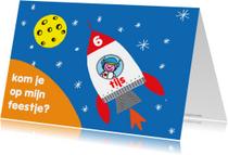 Kinderfeestjes - feest jarig jongen astronaut