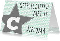 Geslaagd kaarten - Felicitatie C-diploma Ster - WW