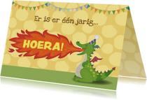 Verjaardagskaarten - Felicitatie draak - tirzaworld
