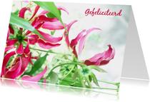 Felicitatiekaarten - Felicitatie dromerige bloemen