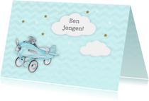 Felicitatiekaarten - Felicitatie geboorte vliegtuig