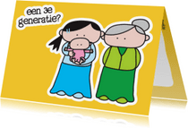 Felicitatiekaarten - Felicitatie Kleinkind Generaties