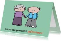 Felicitatiekaarten - Felicitatie Kleinkind Opa en Oma