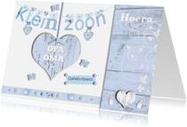 Felicitatiekaarten - felicitatie kleinzoon slinger met hart