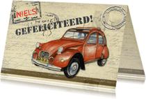 Felicitatiekaarten - felicitatie met eend vintage