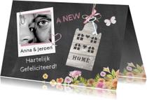 Felicitatiekaarten - felicitatie nieuwe woning foto