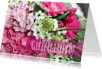 Felicitatiekaarten - Felicitatiekaart blije bloemen