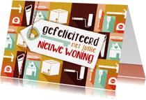 Felicitatiekaarten - Felicitatiekaart nieuwe woning icoon