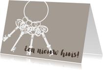 Felicitatiekaarten - Felicitatiekaart  nieuwe woning sleutels