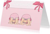 Geboortekaartjes - Geboorte Twee Wondertjes M - TbJ