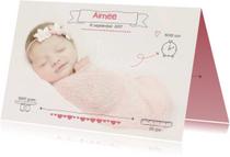 Geboortekaartjes - Geboortekaartje Foto Aimee