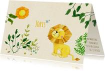Geboortekaartjes - Geboortekaartje leeuw