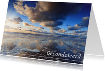 Condoleancekaarten - Gecondoleerd met zonsondergang