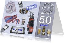 Verjaardagskaarten - Gefeliciteerd Abraham mannen