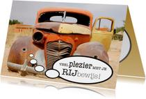 Geslaagd kaarten - Gefeliciteerd Rijbewijs Autowrak - OT