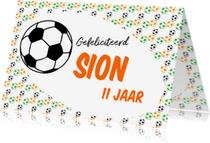 Verjaardagskaarten - Gefeliciteerd voetbal naam aanpasbaar-ByF