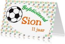 Verjaardagskaarten - Gefeliciteerd voetbal naam-ByF