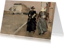 Kunstkaarten - George Breitner. De windvlaag