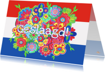 Geslaagd kaarten - Geslaagd kaart bloemvlag PA