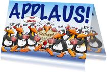 Geslaagd kaarten - Geslaagd kaart met pinguïns