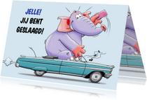Geslaagd kaarten - Geslaagd kaart voor iemand die zijn rijbewijs heeft gehaald