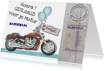 Geslaagd kaarten - geslaagd motorrijbewijs