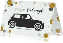Geslaagd kaarten - Geslaagd rijbewijs auto mini