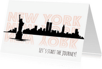 Vakantiekaarten - Goede reis kaart New York - WW